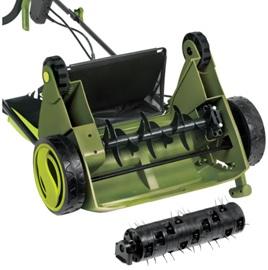 corded-electric scarifier lawn dethatcher