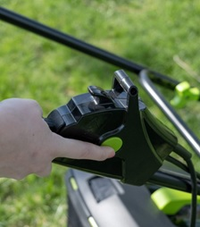 electric-corded lawn mower
