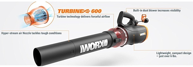 WORX TURBINE 600 Electric Corded Leaf Blower