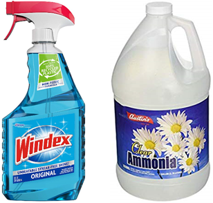 Ammonia and window cleaner