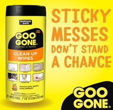 Goo Gone Clean Up Wipes Remover Method